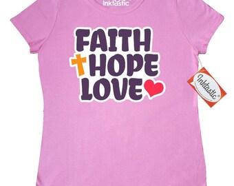 Faith love hope Women's T-Shirt by Inktastic