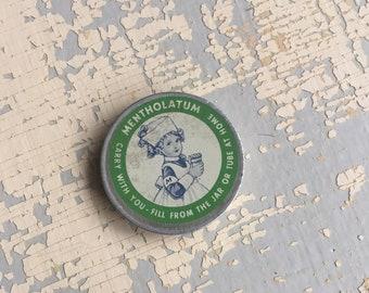 VINTAGE Mentholatum Tin, Little Nurse, Medicine Tin, Vintage Advertising, First Aid