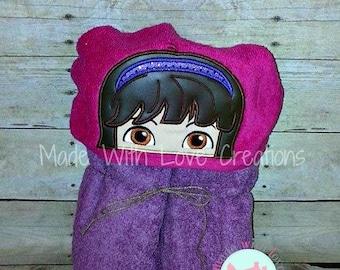 Girl Explorer Inspired Hooded Towels