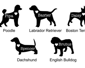 Dog Silhouette Decal