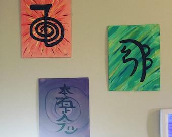 Reiki Healing Symbols 5 by 7