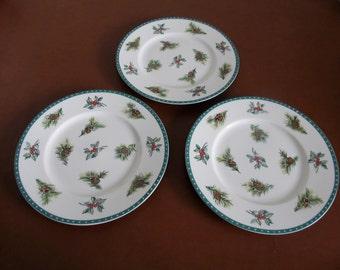 Mikasa Christmas Wish Three Luncheon, Salad, Dessert Plates