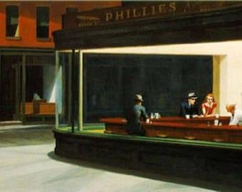 """Edward Hopper - """"Nighthawks"""" 1942 - 24x36"""" Print"""
