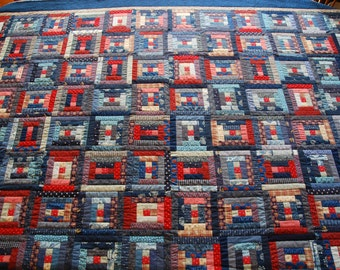 Scrappy Courthouse Steps Quilt