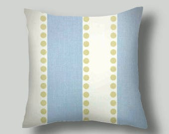 Sale  Pillows  Decorative Throw Pillows  Blue and White Decorative Throw Pillow Covers     18 X 18   Accent Pillows  Blue  Pillows