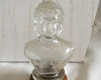 Rare 1950's  House of Lowell Queen Bust Lotion Bottle
