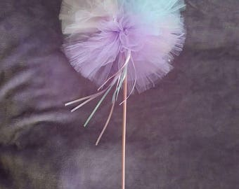 Tulle wand with bling