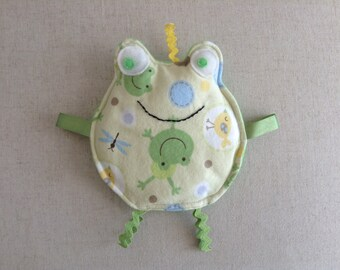 Crinkle Baby Toy/Baby Gift/Frog Toy/Square Toy