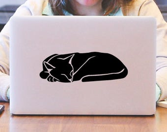 Sleeping Cat Decal