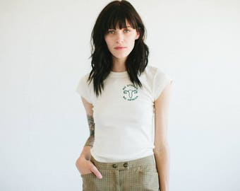 No Uterus, No Opinion, embroidered shirt by The Bee & The Fox