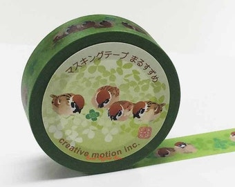 Creative Motion Sparrow Japanese Washi Tape Masking Tape Paper Tape Price depends on order volume.