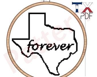 Texas Forever Cross Stitch Pattern - Friday Night Lights