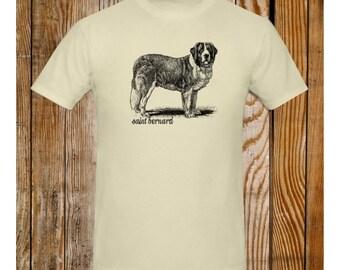 St Bernard T-Shirt Vintage Illustration Saint Bernard