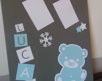 Table personalized baby & child boy Teddy bear theme