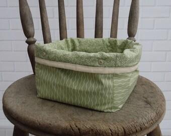 Fabric storage basket, mini storage, storage bin, small organiser, portable