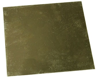 "Red Brass Sheet 26ga 6"" x 6"" 0.41mm Thick  (BS26-6)"