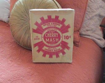 Vintage Advertising Cherry Mash Candy Box