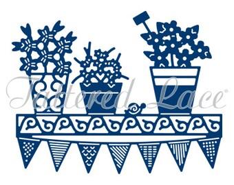 Tattered Lace Die - Flower Pot Shelf