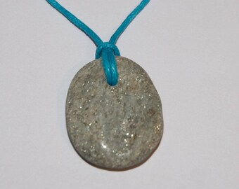 Rosie's Stoneage beach pebble pendant necklace - West Bay #4364