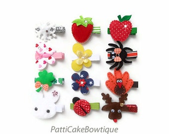 Toddler Hair Clips for Baby Fine Hair/Holiday Hairclips/Baby Clips for Hair/Hair Clippy/Hair Barrette/Babygirl Hair Clips with Non-Slip Grip