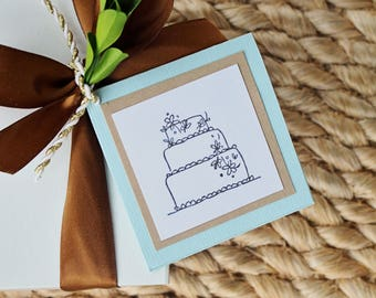 Gift Enclosure Cards, Gift Tags, Wedding Cake