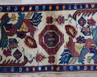 2 by 3 rug, Small Rug, Small Vintage Rug, Small Oushak Rug, Small Turkish Rug, Doormat Rug, Vintage Pillow, Vintage Cushion, Pillow Rug