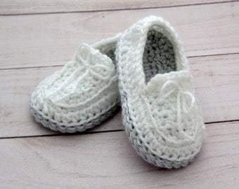 Baby boy shoes, Crochet baby shoes, Baby boy booties, Crochet booties for Newborn to 12 Months, Beautiful Christening Shoes for Baby Boy