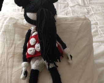 Handmade crochet mini mouse doll