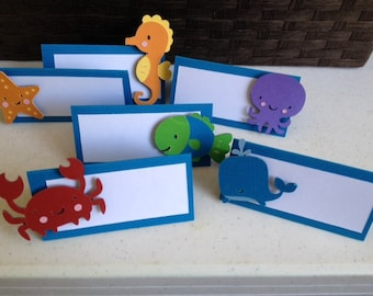 12 Under the Sea Animal Place Cards Food Cards Labels
