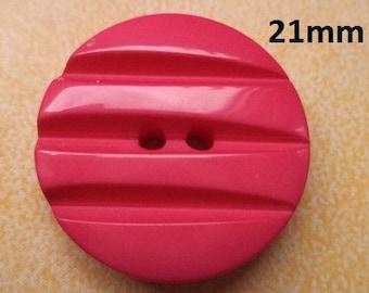 10 Buttons Pink 21 mm (6647) button