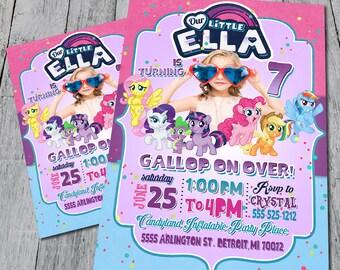 My Little Pony Birthday Party Invite (Digital)