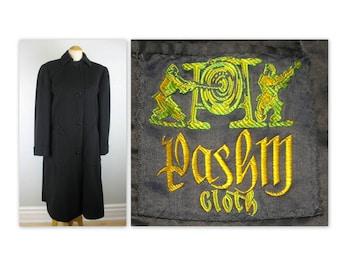 Vintage des années 50 Pashma manteau L par Chester Barrie pour Holt Renfrew, manteau d'hiver Pashmina