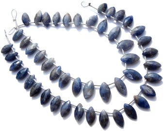 Gemstone beads, Blue Sapphire Faceted Marquise Semiprecious Stone, Quality C, 5x8.50 to 6x11 mm, 18 cm, 25 pieces, SA-096/1