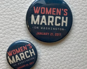 Women's March on Washington button