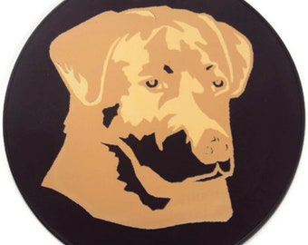Round Silicone Golden Retriever Table Trivet, Kitchen Hot Pad, Table Placemat, Table Mat