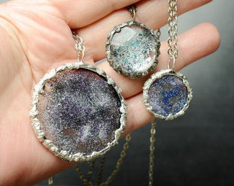 Galaxy necklace, Sparkly Celestial jewelry, eclipse necklace, inspirational gift for women