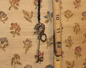 Steampunk seahorse necklace