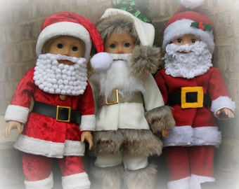 Santa Suit for DOLLY- PDF Sewing Pattern sized for 15 and 18 inch dolls