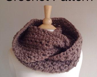 Infinity scarf pattern, crochet scarf pattern, chunky crochet pattern, warm oversized cowl scarf pattern, chunky scarf pattern