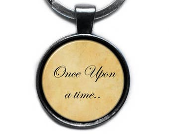 """Fairytale """"Once Upon a time.."""" Keychain Keyring"""