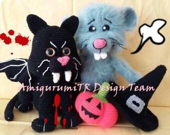 BatCat and Hairy Mouse-AmigurumiTRDesignTeam