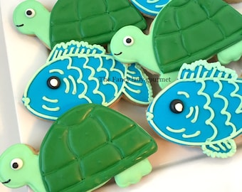 Fish and turtle cookies