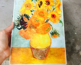 SALE Wall Decor Sunflowers Wall Tile