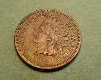 1873 Open 3 Indian Head Cent     / Insurance included in SH  <>ET5373