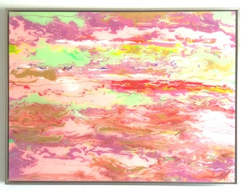Abstract, Original oil Painting, Plexiglass, wall art decor, Framed, Large Size Handmade Contemporary art, One of a kind, Ready to Hang