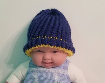 Blue and gold hat
