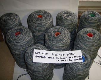 Blended FELTED WOOL Yarn (9 cones @ 12.5kg) Weaving Tapestry Rugs