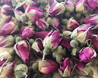 Miniature Baby Red Roses and Rose Buds | Dried mini Rose Buds | Bulk Herbs Dried Flowers | Dried Roses, Red Roses | Petite Roses