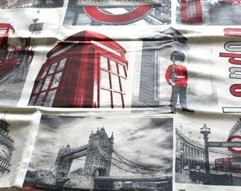 Fabric upholstery London 70 x 50 cm