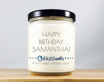 Personalized|Birthday|Gifts Gift for Him Birthday Gift for Her Happy Birthday Candle Happy Birthday Gift Personalized Candle